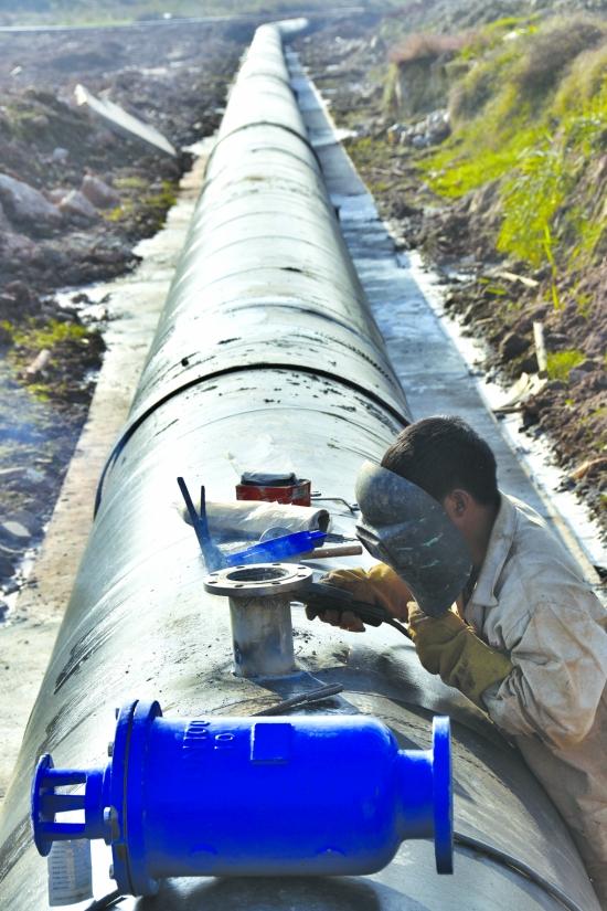 污水处理管网施工现场