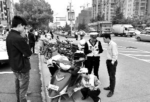 上饶经开区交警大队第三次创国卫交通秩序集中整治行动启动
