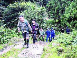 4驴友大茅山迷路被困 蓝天救援队15小时救出