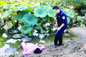 孕妇欲跳池塘轻生 民警开导1小时成功劝回