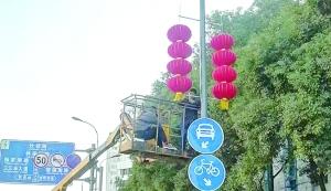 饶城4万大红灯笼高高挂 街头洋溢幸福年味